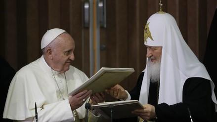 Francisco y Kiril abren canal de diálogo entre católicos y ortodoxos