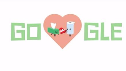 San Valetín: Google recuerda esta fecha con un tierno doodle