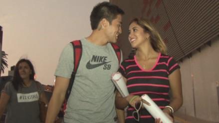 Universitario de Deportes: Rodrigo Cuba y Melissa Paredes llenaron de amor el estadio