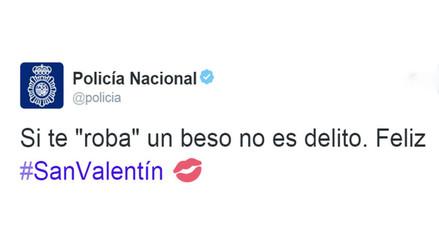 Twitter: ¿Si te 'roban' un beso es delito? Policía de España dice que no