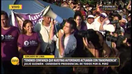 Julio Guzmán anunció otra noche de vigilia si no hay fallo del JNE