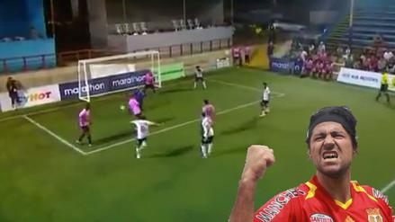 YouTube: Sergio Ibarra metió un golazo en la Super Liga de Fútbol 7