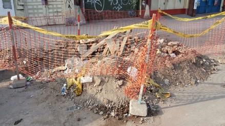 Lima: desmonte de construcción bloquea pista y ciclovía