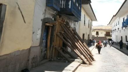 Cusco: muro a punto de colapsar no es derrumbado por ser Patrimonio Cultural