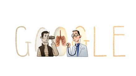 Google rinde homenaje al tímido médico René Laënnec con este doodle