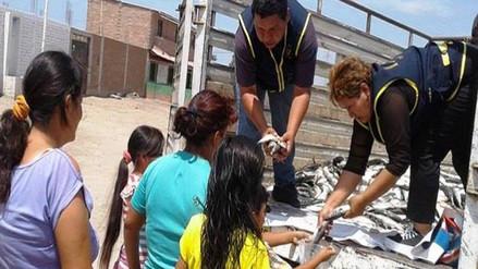 Municipio de Chiclayo distribuye pescado decomisado por Gerencia de Producción