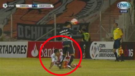 Copa Libertadores: escalofriante lesión en el partido entre Cobresal y Corinthians