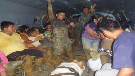 Satipo: comando especial VRAEM evacúa a damnificados por huaico