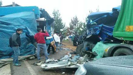 Andahuaylas: choque entre camiones deja tres heridos en San Jerónimo
