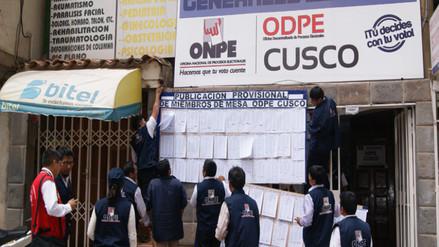 ODPE Cusco efectuó sorteo a miembros de mesa para elecciones