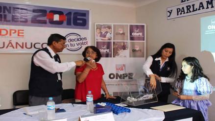 ODPE Huánuco realizó sorteo de miembros de mesa para elecciones