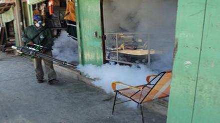 Moyobamba: fumigan viviendas para prevenir el dengue