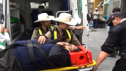 Siete heridos dejó triple choque en carretera Los Libertadores
