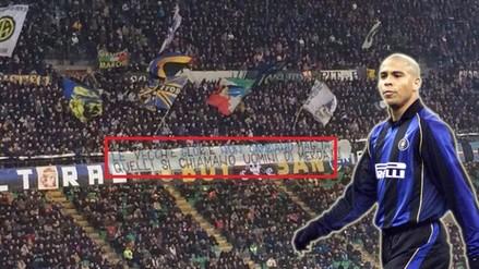Twitter: hinchas del Inter de Milan insultaron a Ronaldo con pancarta
