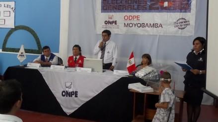 Moyobamba: sortean a más de 11 mil miembros de mesa