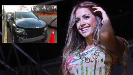 Camioneta de Milett Figueroa choca a un taxi y chofer se da a la fuga