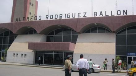 Aeropuerto Alfredo Rodríguez Ballón cerrado por mal clima
