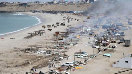 Así quedó playa El Silencio tras el desalojo de comerciantes