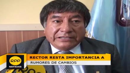 Rector interino de la UNC resta importancia a rumores de cambio de directiva