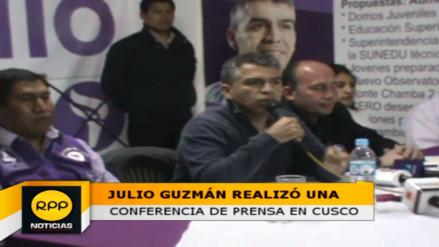 Julio Guzmán espera optimista la respuesta del JEE en el Cusco