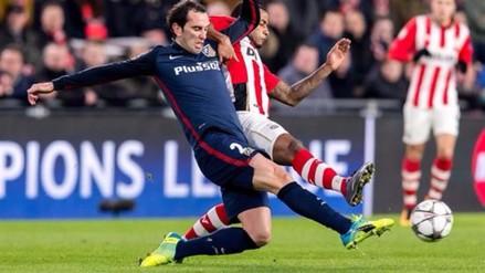 Atlético de Madrid igualó 0-0 con PSV por los octavos de final de la Champions League