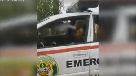 Trujillo: captan a policía durmiendo en horas de trabajo