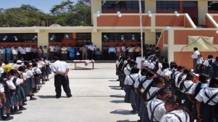 Colegios recibirán S/.13 millones para mejorar infraestructura