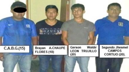 Trujillo: caen cuatro delincuentes cuando iban a asaltar camión