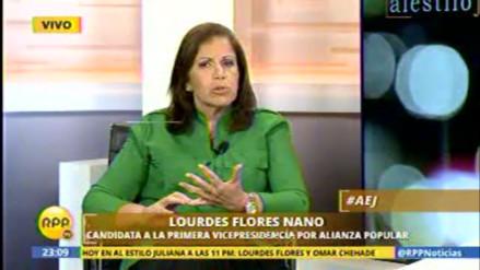 """Flores Nano: """"No me gusta que la imagen del presidente esté relacionada con corrupción"""""""
