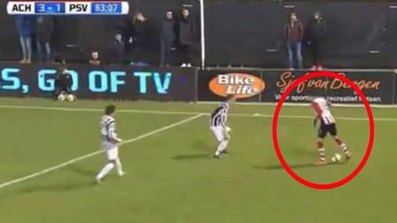 YouTube: Luiz da Silva mostró su talento en la derrota del PSV ante Achilles
