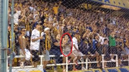 YouTube: bella hincha de Rosario Central perdió su camiseta mientras alentaba