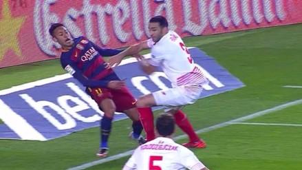 Barcelona vs. Sevilla: Neymar 'bailó' a Rami con esta genial finta