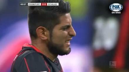 Selección Peruana: Carlos Zambrano salió lesionado en el Eintracht Frankfurt - Schalke 04