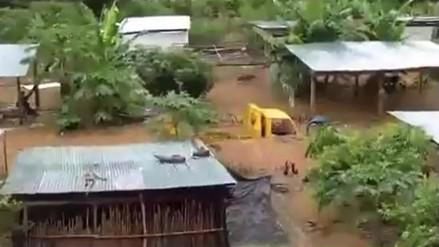 La Convención: desborde de ríos inundaron el poblado de Kiteni