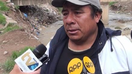Vecinos del Barrio Moyopata en alerta por crecida del rio Mashcon