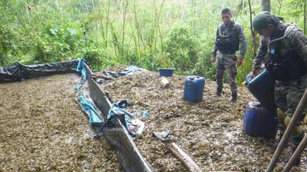 Vraem: destruyen cuatro pozas de maceración de hoja de coca