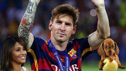 Instagram: Antonella Roccuzzo hace famoso al perro de Lionel Messi