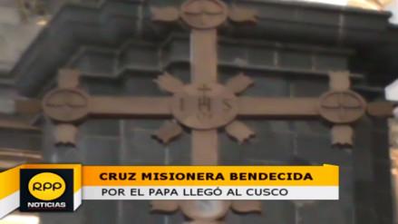 Llega al Cusco la Cruz Misionera bendecida por el Papa Francisco