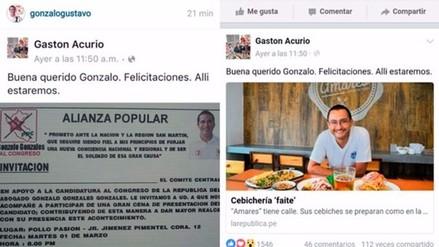 Facebook: Gastón Acurio denuncia que candidato al Congreso usó su identidad