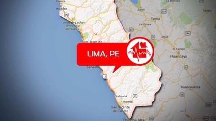 Un sismo de 4.0 grados se registró esta noche en Lima