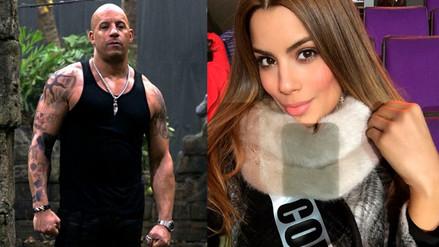 Vin Diesel será conquistado por Miss Colombia