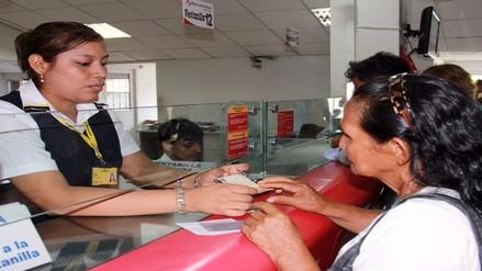 Pensión 65 inició pagos del 2016 a beneficiarios de Lambayeque