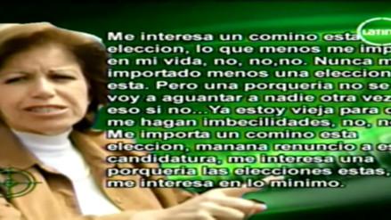 Lourdes Flores sugirió irregularidades cuando postulaba a la Alcaldía en 2010
