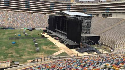 The Rolling Stones: así luce el Estadio Monumental a sólo días del concierto