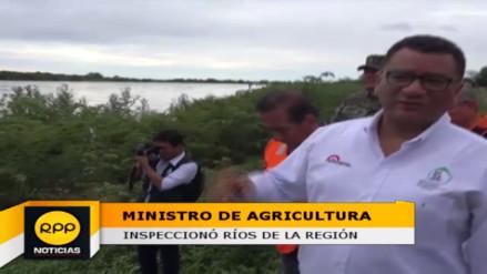 Ministro de Agricultura inspeccionó ríos Tumbes y Zarumilla