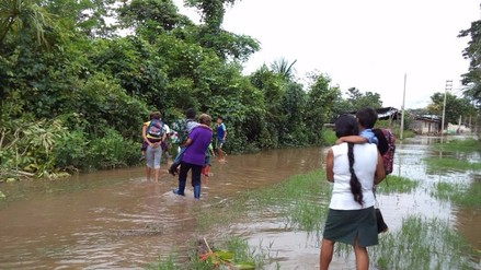 Moyobamba: lluvias provocan desborde del río Mayo y afectan a 4 localidades
