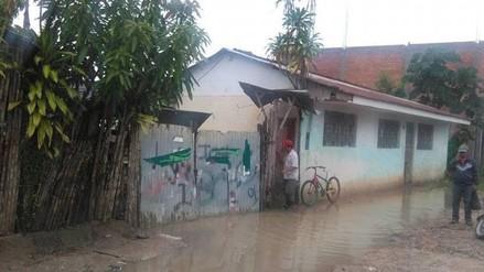 Moyobamba: fuertes lluvias dejan 42 casas afectadas
