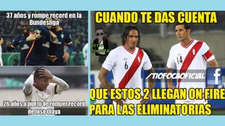 Facebook: Claudio Pizarro, Juan Vargas y el resumen de sus mejores memes tras anotar
