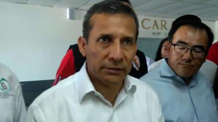 Presidente Humala inspeccionó zonas afectadas por vía aérea
