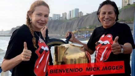 The Rolling Stones en Lima: Alejandro Toledo saluda a Mick Jagger
